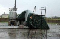 В Северодонецке ураган сорвал немецкие палатки для переселенцев