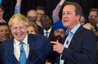 Кэмерон: Борис Джонсон поддержал брексит только ради карьеры