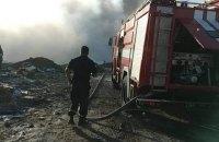 """Біля злітної смуги """"Борисполя"""" загорілося незаконне звалище сміття"""