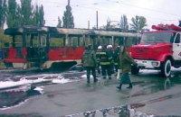 В Киеве из-за жары вспыхнул трамвай