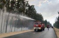 До ліквідації наслідків пожежі в Луганській області залучили прикордонників зі складу ООС