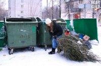У Києві організували 10 пунктів прийому новорічних ялинок