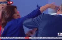 Богословська вдарила Червоненка в прямому ефірі