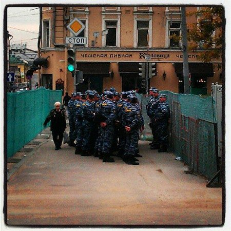 ОМОН на Стретенской площади