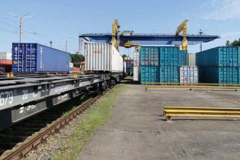 В Украину прибыл первый контейнерный поезд из Китая по новому маршруту