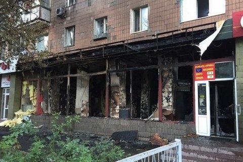 В Харькове сгорел магазин ритуальных услуг, расположенный в жилой многоэтажке