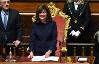 В Італії Сенат вперше очолила жінка