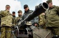 Порошенко провів огляд військової техніки
