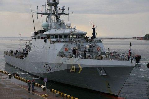Британский патрульный корабль зашел в порт Одессы