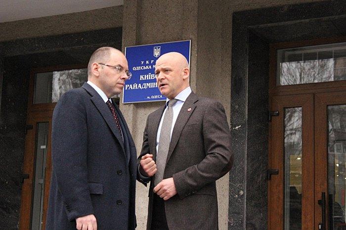 Глава Одесской ОГА Максим Степанов и мэр Одессы Геннадий Труханов