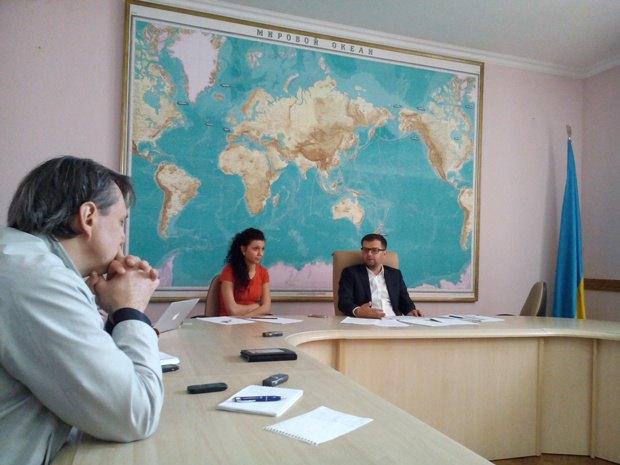 Ярема Ковалив на встрече с журналистами