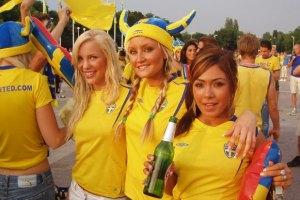 На матч с Украиной приедут 20 тыс. шведских фанов