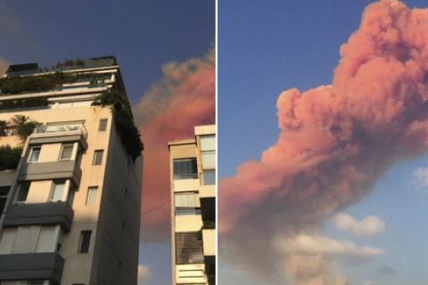 В Бейруте произошел мощный взрыв
