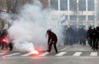 У сутичках із демонстрантами в Скоп'є постраждали 7 поліцейських