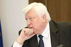 Янукович отметил высокие моральные качества Пшонки