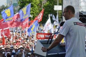 Яценюк приехал в Васильков проконтролировать выборы