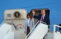 Трамп прилетел в Хельсинки на переговоры с Путиным