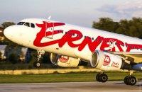 Итальянский лоукостер Ernest Airlines приостановит полеты в Харьков