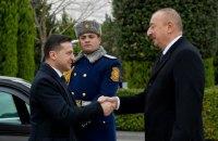 У Баку відбулася офіційна церемонія зустрічі Зеленського і Алієва