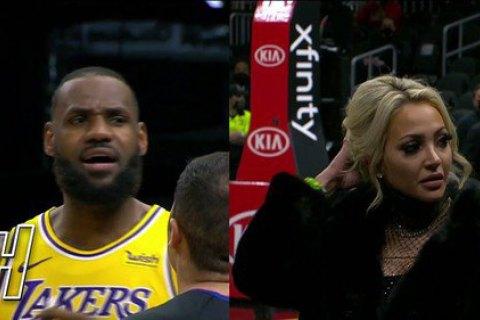 Матч НБА був припинений через конфлікт ЛеБрона з уболівальницею