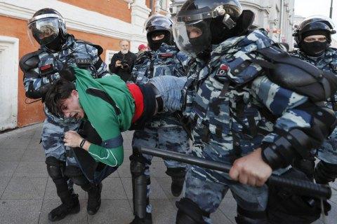 На протестных акциях в России в субботу задержали 352 человек
