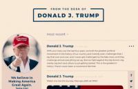 Трамп запустил личную соцсеть на своем сайте