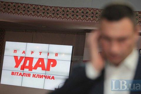 """""""УДАР"""" набирає майже 29% голосів на виборах до Київради, - соцопитування"""