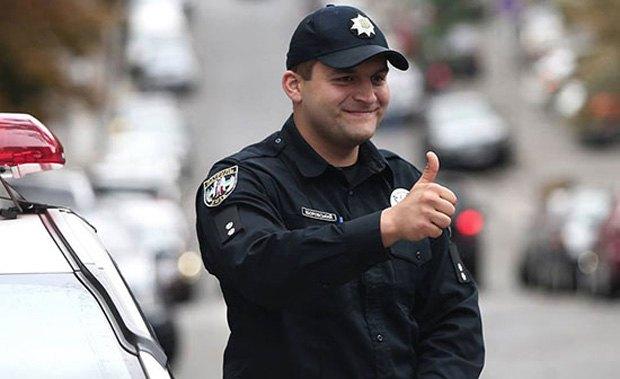 Офицер патрульной полиции Киева Евгений Зборовский