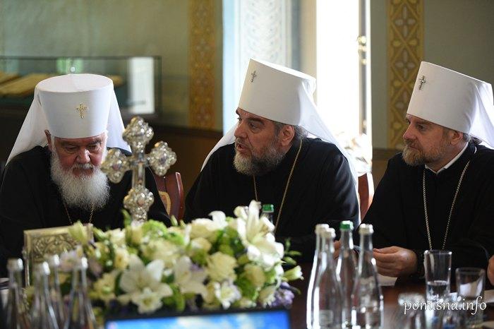 Митрополий Макарий и Митрополит Симеон во время заседание Синода ПЦУ, 11 февраля 2019