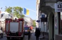 У центрі Львова горів готель