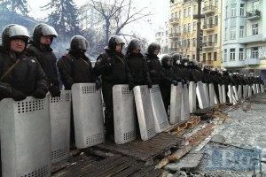 Правительственный квартал в Киеве усиленно охраняется