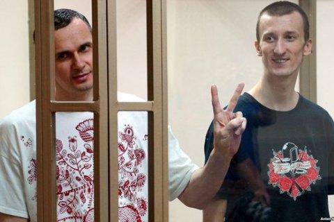 Росія визнала Сенцова і Кольченка громадянами України