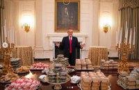 Трамп замовив у Білий дім 300 гамбургерів для футбольної команди