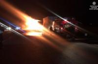 Рух на 72-му км траси Київ-Одеса заблоковано через загоряння фури