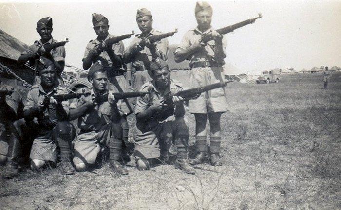 Солдаты Армии Андерса в Палестине