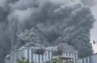 У Китаї на будмайданчику Huawei сталася пожежа