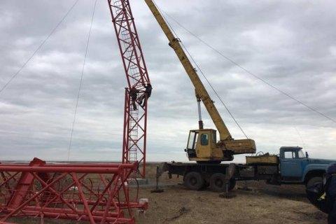 На Чонгарі почалося будівництво вежі для мовлення на Крим