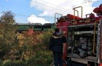 У Чернівецькій області на колії загорівся вантажний локомотив