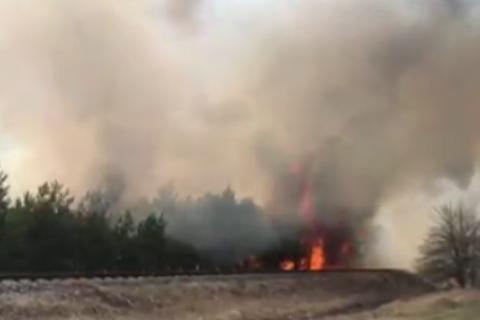 """Пожар добрался до территории около пятого энергоблока ЧАЭС, - сотрудница пресс-службы """"Энергоатома"""""""