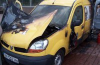 В Киеве взорвалась автокофейня