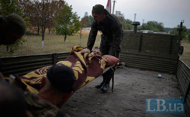 Раненые в Иловайске