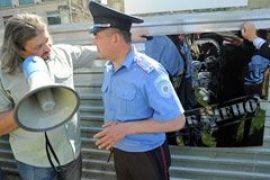 На Крещатике активисты протестовали против застройки