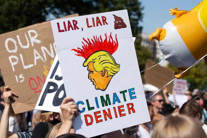 Під час кліматичного маршу у Вашингтоні, 20 вересня 2019.