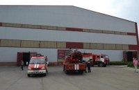 В Днепре произошел пожар на аккумуляторном заводе