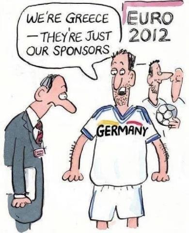Вообще-то мы команда Греции, а Германия - это наши спонсоры...