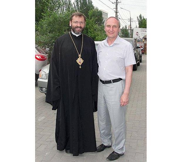 Игорь Козловский с главой УГКЦ Святославом Шевчуком
