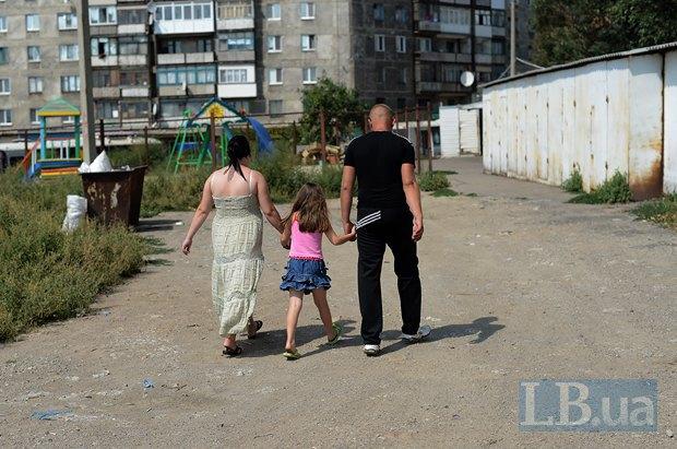 Ольга Кондратьева, её муж Евгений и дочь София. Ещё одна дочь Елизавета была не в городе и потому не смогла сфотографироваться.