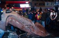 Историк-краевед шокирована сносом памятника Ленину в центре Киева
