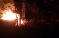 В Киеве на Оболони вспыхнул пожар