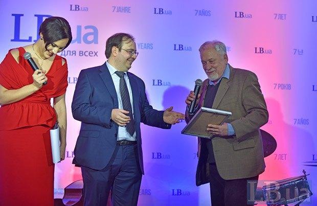 Семен Глузман, Олег Базар и Соня Кошкина (справа-налево)